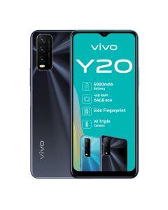vivo Y20 Dual Sim 64GB in Obsidian Black sold by Technomobi.
