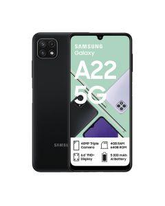 Samsung Galaxy A22 5G Single Sim 64GB in Black sold by Technomobi