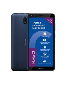 Nokia C1 2nd Edition 3G Dual Sim 16GB in Blue sold by Technomobi