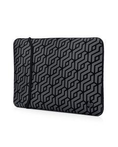 HP 14 Inch Neoprene Reversible Laptop Sleeve - Geomaetric Black