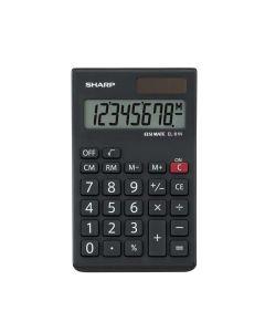 Sharp EL81N 8 Digit Calculator - Black