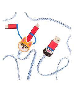 Swipe: Shiba Inu 3-In-1 Charging Cable