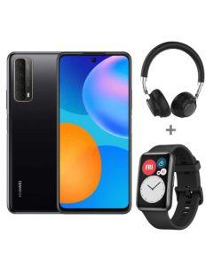 Huawei P Smart 2021 Black + Watch Fit Graphite Black + Bluetooth Headset