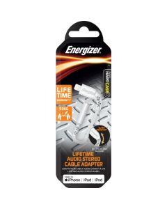 Energizer Apple Lightning Audio Adapter - White (Lifetime Warranty)