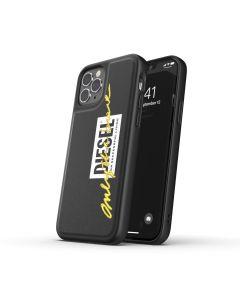Diesel Apple iPhone 12/12 Pro Embroid Case Signature -Black/Lime