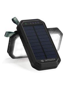 INTOUCH 10 000mAh Solar Wireless Power Bank - Black