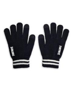 Fortnite Logo Gloves - Black