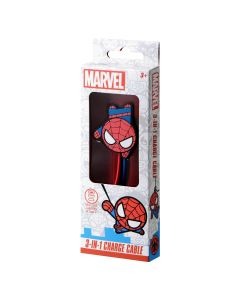 Marvel 3-in-1 charging cable - Spider-Man
