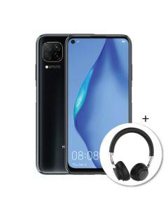 Huawei P40 Lite 128GB + Bluetooth Headset - Midnight Black