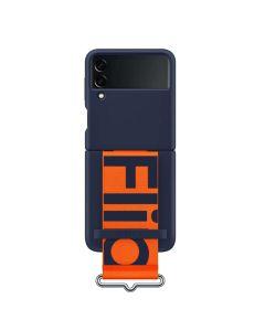 Samsung Galaxy Z Flip3 5G Silicone Strap Case - Blue
