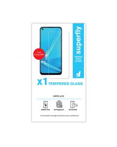 Superfly Oppo A72 Tempered Glass Screen Protector - Clear
