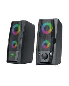 T-Dagger 2 x 3W 3.5mm/USB RGB Speakers - Black