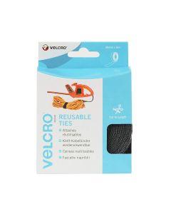 Velcro® Brand Reusable Ties 30Mm X 5M Black