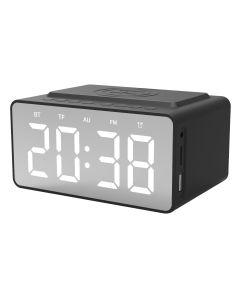 Snüg Bluetooth Clock Radio & Wireless Charger - Black