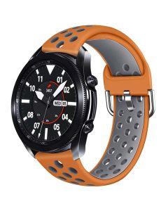 Toni Silicone Buckle Watch Strap 22mm - Orange/Grey