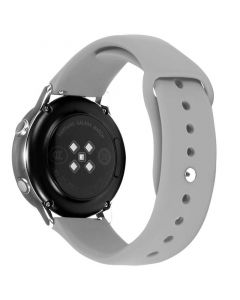 Toni Silicone Button Watch Strap 20mm in Grey sold bby Technomobi
