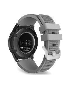 Toni Silicone Buckle Watch Strap 22mm - Grey