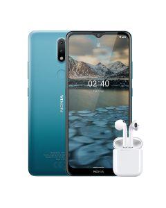 Nokia 2.4 Single Sim 32GB with free Bluetooth Earpods in Blue sold by Technomobi.