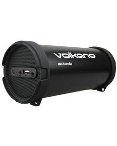 Volkano Mini Bazooka series Bluetooth/Aux/USB/FM Radio - Black