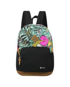 Volkano Hawk Backpack Black/Floral