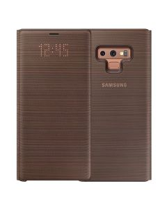 Samsung Original Galaxy Note 9 LED Wallet Cover - Brown