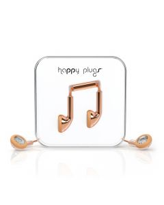 Happy Plugs Delux In-Ear + Mic & Remote - Rose Gold