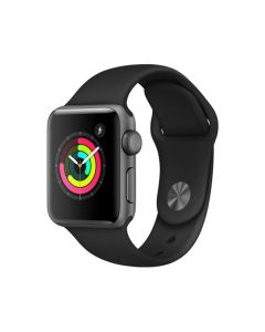 Apple Watch Series 3 Gps 38Mm With Black Sport Band - Silver Aluminium Case